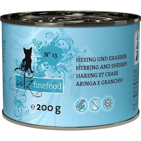 Catz finefood - se sleděm a krevetami 200g - Konzerva pro kočky