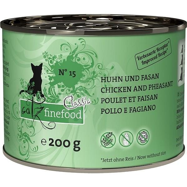 Catz finefood - s kuřecím a bažantím m. 200g - Konzerva pro kočky