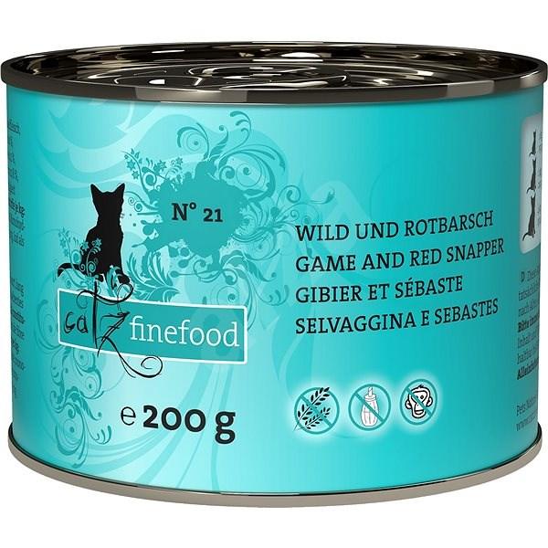 Catz finefood - se zvěřinou a okouníkem 200g - Konzerva pro kočky