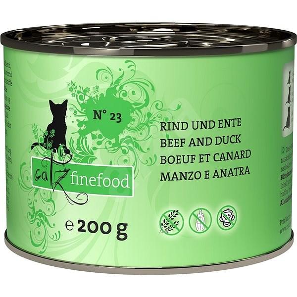 Catz finefood - s hovězím a kachním masem 200g - Konzerva pro kočky