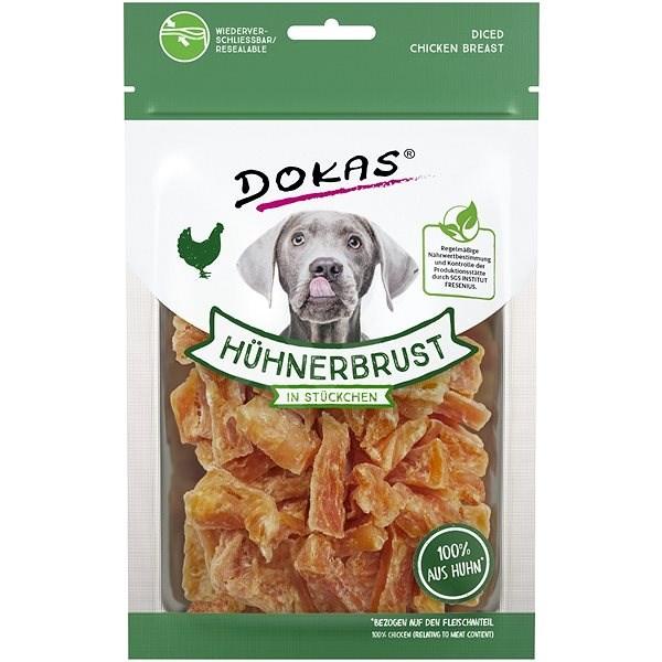 Dokas - Kuřecí prsa kousky 70 g - Pamlsky pro psy