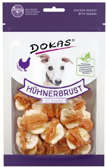 Dokas - Kuřecí prsa s banánem 70 g - Pamlsky pro psy