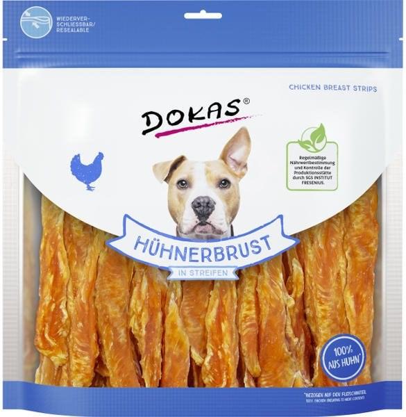Dokas - Kuřecí prsa proužky široké 900 g - Pamlsky pro psy