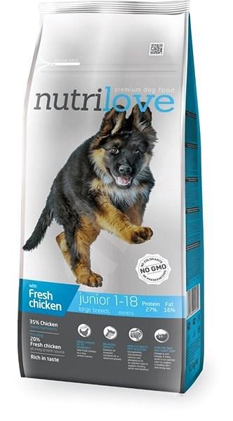 Nutrilove JUNIOR L fresh chicken 12 kg - Granule pro štěňata