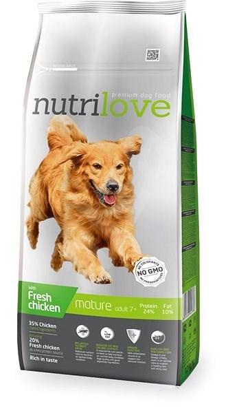 Nutrilove MATURE 7+ fresh chicken 12kg - Granules for dogs