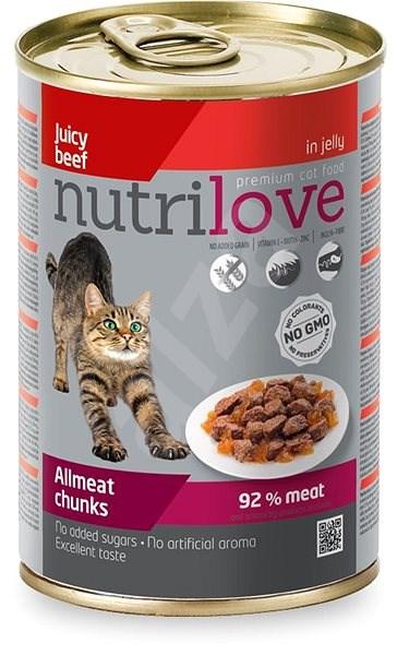 Nutrilove hovězí v želé 400g - Konzerva pro kočky