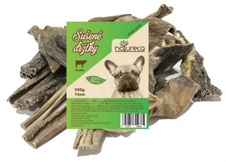 NATURECA pochoutka hovězí dršťky sušené 15cm 500g - Pamlsky pro psy