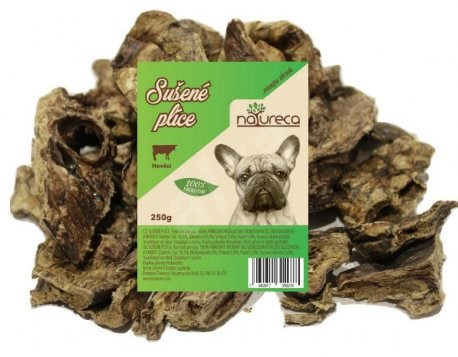 NATURECA pochoutka hovězí plíce sušené 250g - Pamlsky pro psy