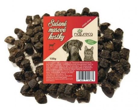 NATURECA pochoutka masové kostky - Jehně, 100 % maso 150g - Sušené maso pro psy