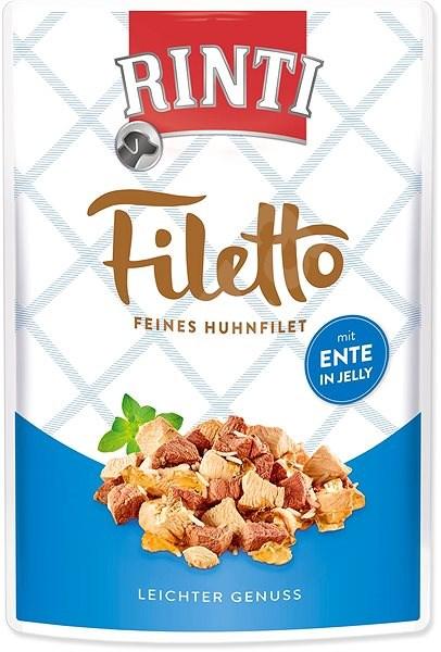 FINNERN kapsička Rinti Filetto kuře+kachna v želé 100g - Kapsička pro psy