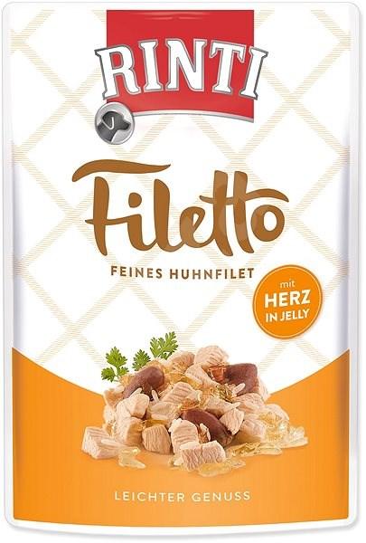 FINNERN kapsička Rinti Filetto kuře+kuřecí srdce v želé 100g - Kapsička pro psy
