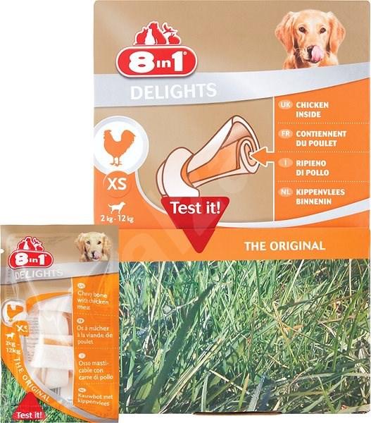 Kost žvýkací Delights XS box 30ks - Kost pro psy