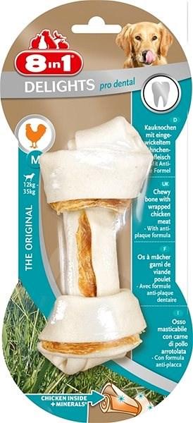 Kost žvýkací s minerály Dental Delights M 1ks - Kost pro psy
