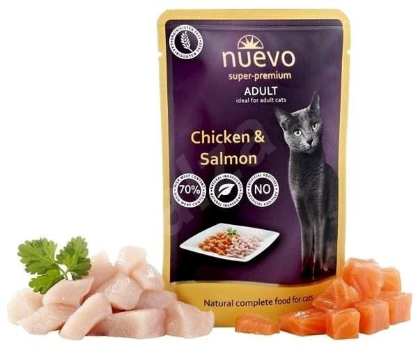 Nuevo kočka kapsa adult kuře a losos 85g - Kapsička pro kočky