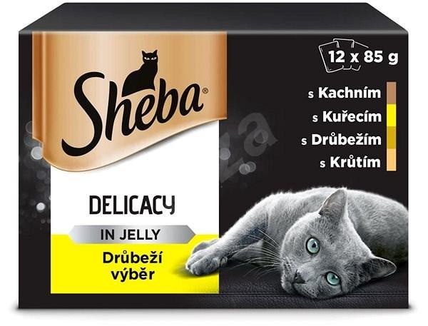 SHEBA Drůbeží výběr v želé 12 × 85 g - Kapsička pro kočky