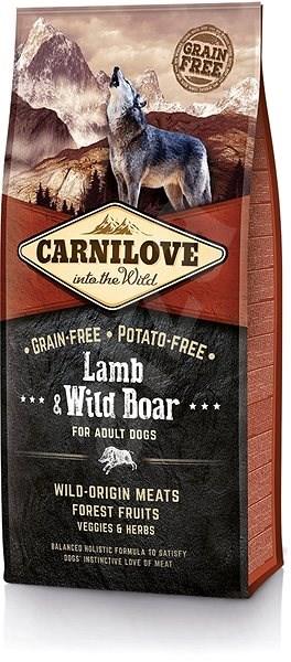 Carnilove lamb & wild boar for adult 12kg - Granule pro psy