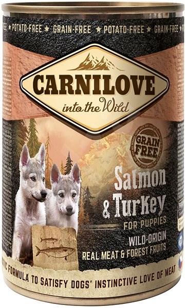 Carnilove wild meat salmon & turkey for puppies 400 g - Konzerva pro psy