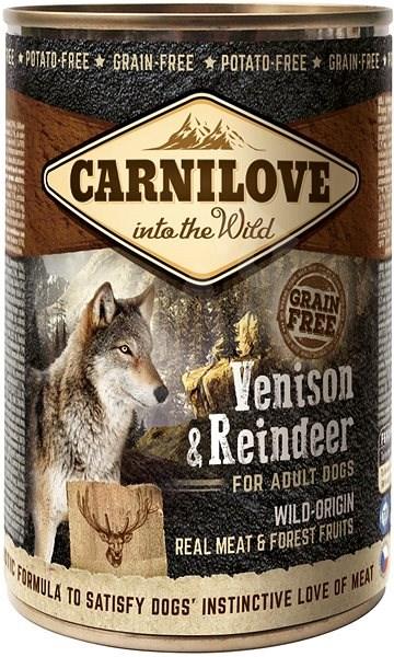 Carnilove wild meat venison & reindeer 400 g - Konzerva pro psy