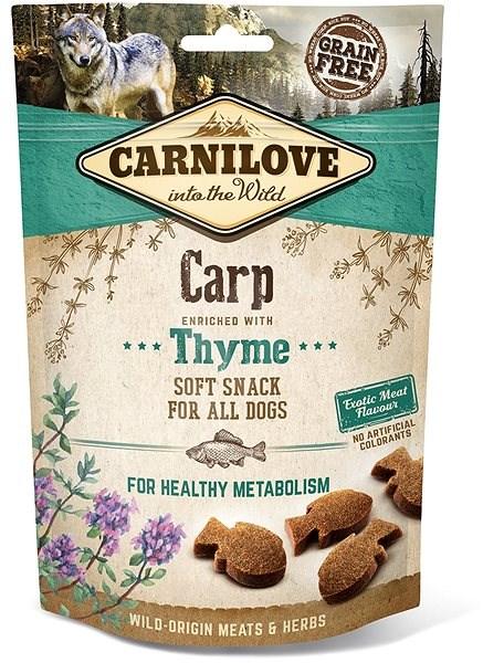 Carnilove dog semi moist snack carp enriched with thyme 200 g  - Pamlsky pro psy