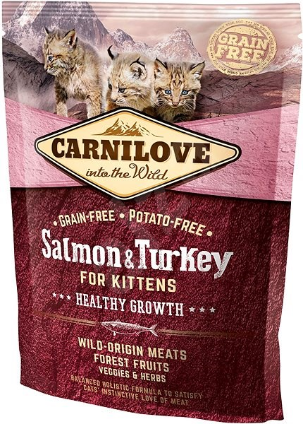 Carnilove salmon & turkey for kittens – healthy growth 400 g - Granule pro koťata