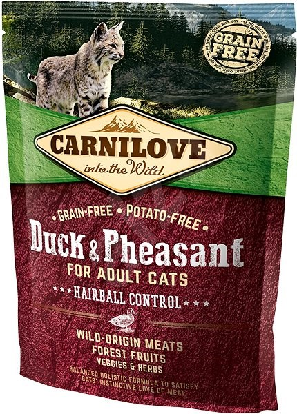Carnilove duck & pheasant for adult cats – hairball control 400 g - Granule pro kočky