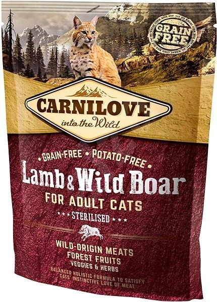 Carnilove lamb & wild boar for adult cats – sterilised 400 g - Granule pro kočky