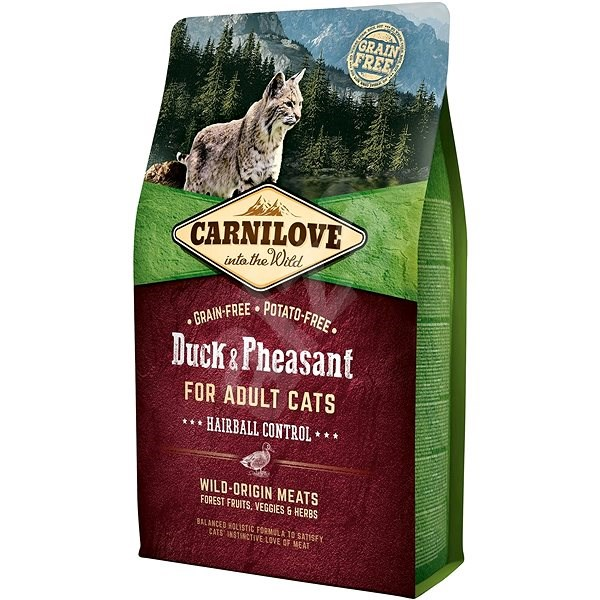 Carnilove duck & pheasant for adult cats – hairball control 2kg - Granule pro kočky