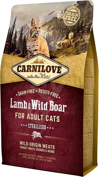 Carnilove lamb & wild boar for adult cats – sterilised 2kg - Granule pro kočky