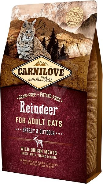 Carnilove Reindeer for adult cats – energy & outdoor 2kg - Granule pro kočky