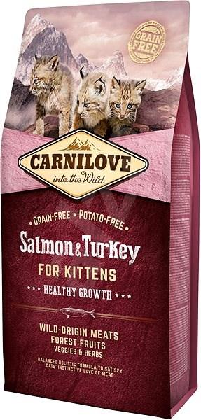 Carnilove salmon & turkey for kittens – healthy growth 6kg - Granule pro koťata
