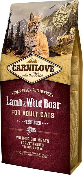Carnilove lamb & wild boar for adult cats – sterilised 6kg - Granule pro kočky