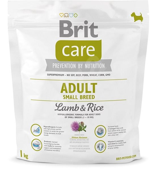 Brit Care adult small breed lamb & rice 1 kg - Granule pro psy