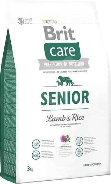 Brit Care senior lamb & rice 3kg - Granule pro psy