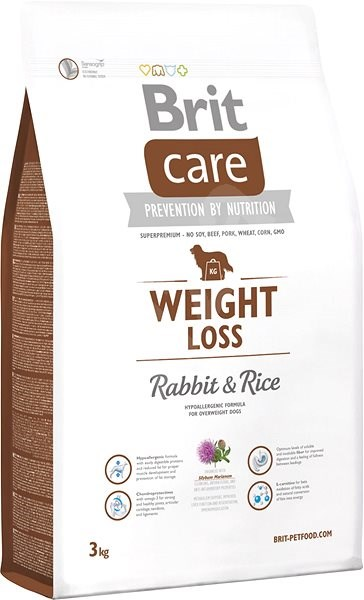 Brit Care weight loss rabbit & rice 3 kg - Granule pro psy
