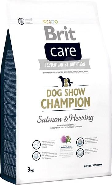 Brit Care dog show champion 3kg - Granule pro psy