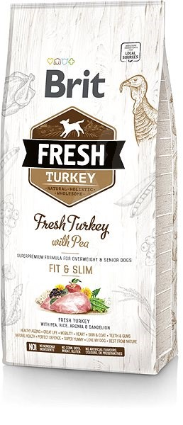 Brit Fresh turkey with pea Light Fit & Slim 12 kg - Granule pro psy