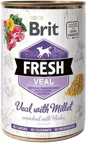 Brit Fresh Veal with millet 400 g  - Konzerva pro psy