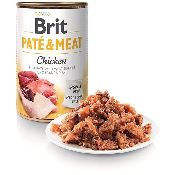 Brit Paté & Meat Chicken 400 g  - Konzerva pro psy