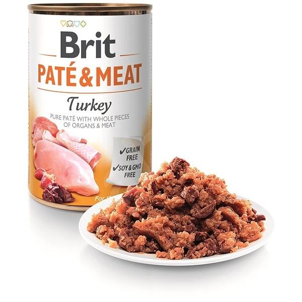 Brit Paté & Meat Turkey 400 g - Konzerva pro psy