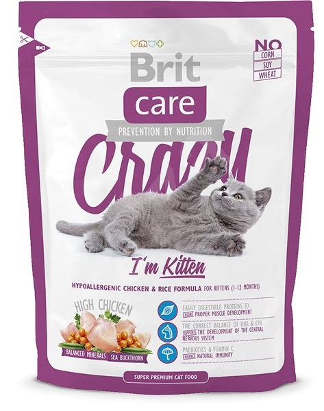 Brit Care Cat Crazy I´m Kitten 0,4 kg - Granule pro koťata