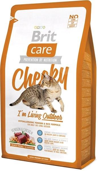 Brit Care Cat Cheeky I´m Living Outdoor 2kg - Granule pro kočky