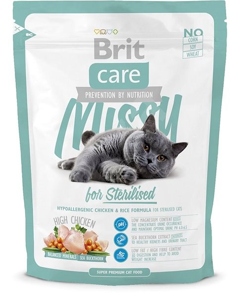 Brit Care Cat Missy for Sterilised 7kg - Granule pro kočky