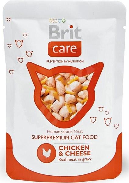 Brit Care Cat Chicken & Cheese Pouch 80 g - Kapsička pro kočky
