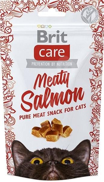 Brit Care Cat Snack Meaty Salmon 50 g - Pamlsky pro kočky