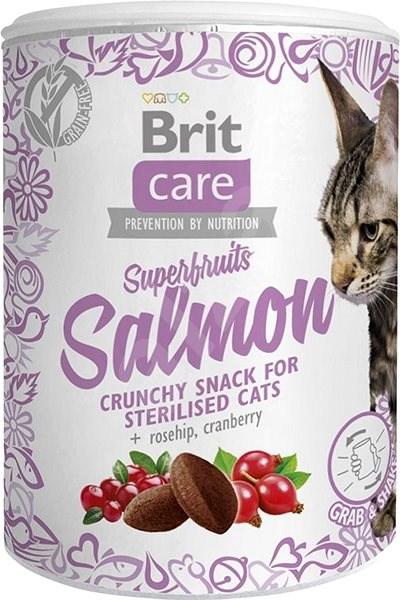 Brit Care Cat Snack Superfruits Salmon 100 g - Pamlsky pro kočky