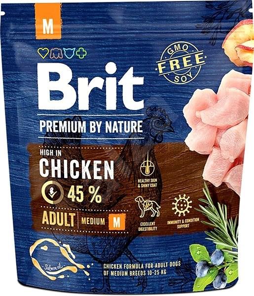 Brit Premium by Nature Adult M 1 kg - Granule pro psy
