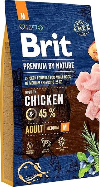 Brit Premium by Nature Adult M 8 kg  - Granule pro psy