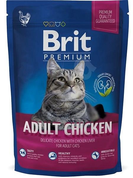Brit Premium Cat Adult Chicken 800 g - Granule pro kočky