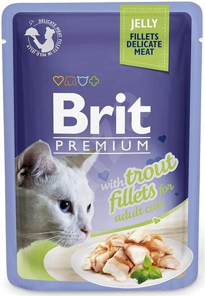 Brit Premium Cat Delicate Fillets in Jelly with Trout 85 g - Kapsička pro kočky