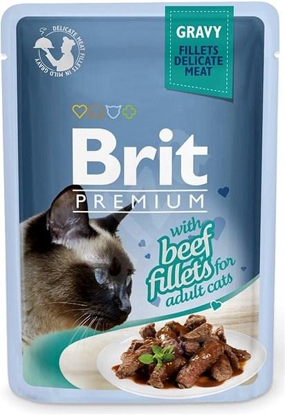 Brit Premium Cat Delicate Fillets in Gravy with Beef 85 g - Kapsička pro kočky